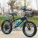 DODOBD Bicicletas para Niños, Bicicletas para Niños y Niñas de 20 Pulgadas con Soporte Bicicleta para Niños Azul Rojo Apto para Niños de 6 a 10 Años o 120 a 145 Cm de Altura