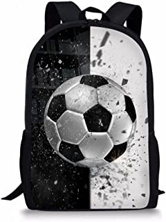 Fashion Children School Backpack Soccer Pattern Book Bags for Traveling
