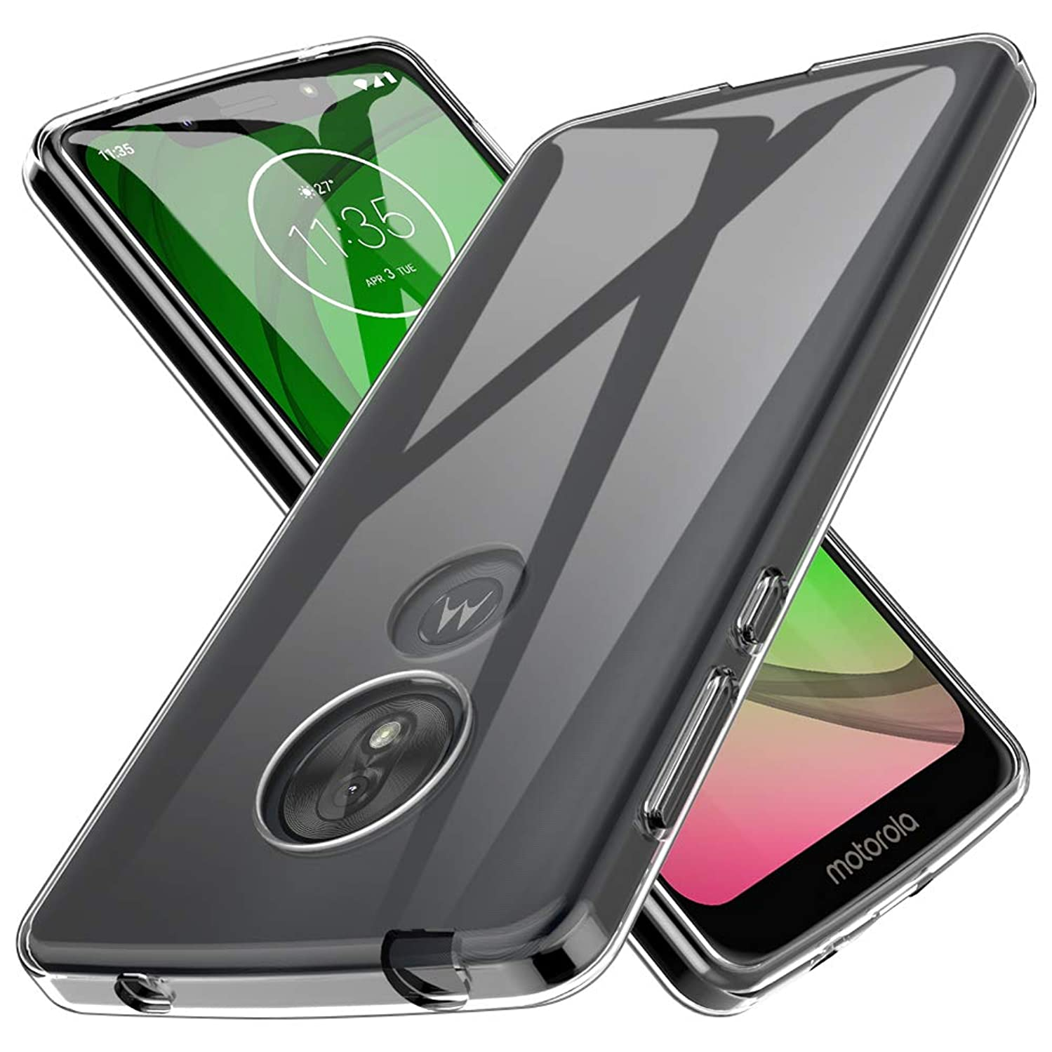 LK Case for Molorola Moto G7 Play, Ultra [Slim Thin] Scratch Resistant TPU Rubber Soft Skin Silicone Protective Case Cover for Moto G7 Play(Clear)