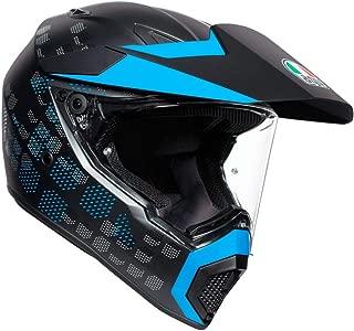 AGV AX9 Antartica Street Motorcycle Helmet - Matte Black/Cyan - L - Large