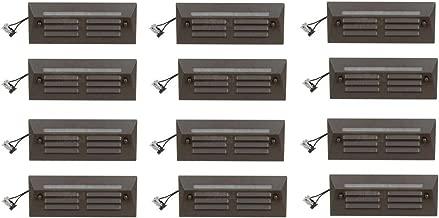 12 Pack Malibu / Proscapes 8608-0408-12 LED Full Brick Step Deck Lights, .3 watt, Low Voltage in Aged Brass Finish BY MALIBU DISTRIBUTION