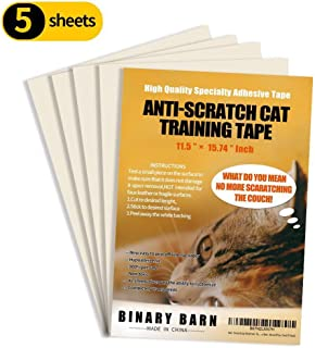 Binary Barn Cat Anti-Scratch Deterrent Tape, Furniture Protectors from Cats,Clear Double Sided Training Tape, Sticky Paws ...
