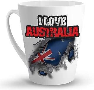 Makoroni - I LOVE AUSTRALIA - 12 Oz. Unique LATTE MUG, Coffee Cup
