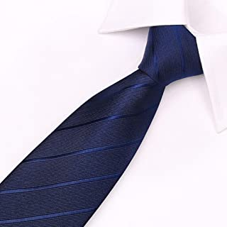 Men's Solid Color Tie Pattern Tie for Weddings Or Working Multi-Color Options, Father, 145 × 7cm CQQO (Color : E)