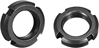 uxcell M25x1.5mm Retaining Four-Slot Slotted Round Nuts, 2 Pcs