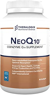 NeoQ10 | Enhanced Absorption Coenzyme Q10 (CoQ10) Supplement | 90 softgels