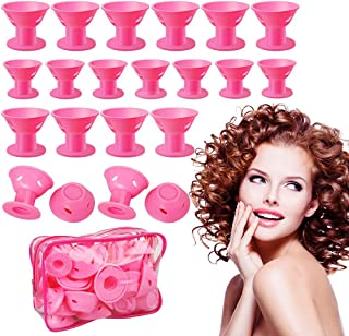 Hair Curlers Rollers Silicon Hair Style Rollers Soft Magic DIY Hair Style Tools with Nat Cap set(30pcs)