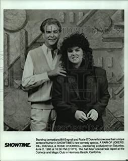 Vintage Photos 1990 Press Photo Bill Engvall and Rosie O'Donnell on A Pair of Jokers Special.