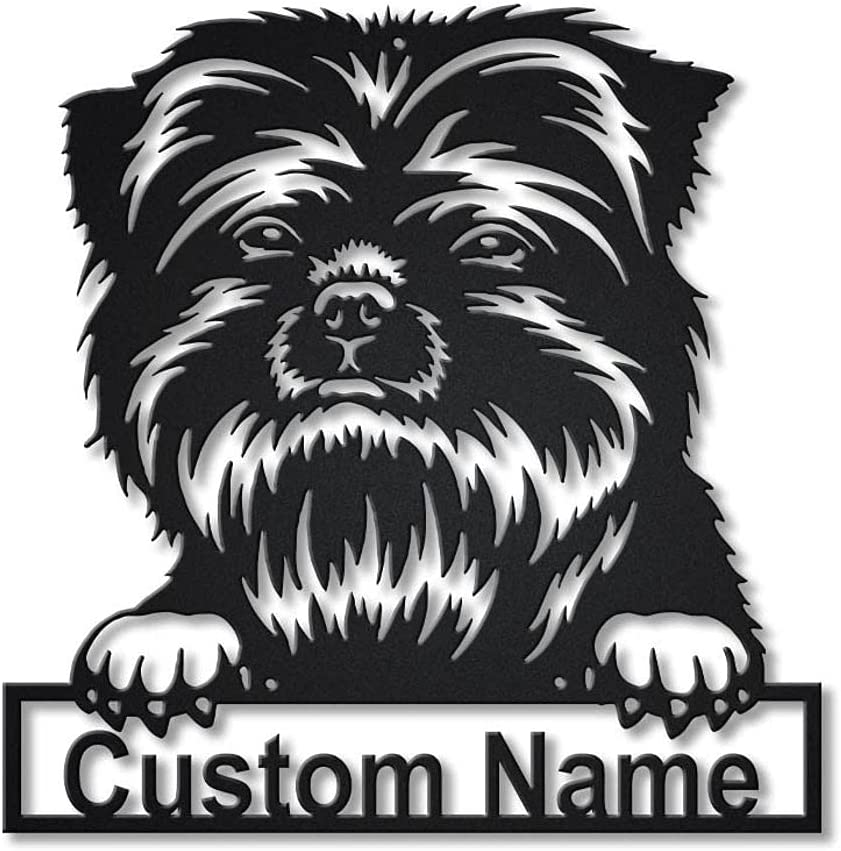 Save money Aihesui HGDBHD Metal Wall Art Sign Decor Affenpinscher Dog Limited time for free shipping