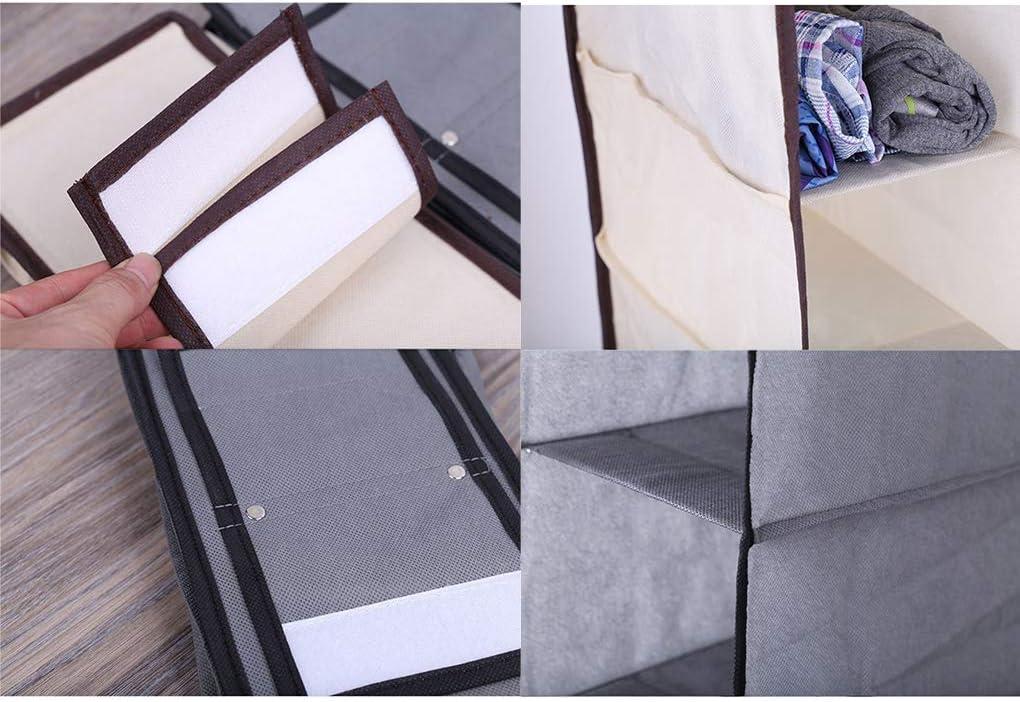 Qinghengyong Stockage Hanger 9 tablettes Pliable Placard Organisateur sous Hangar Organisateur Placard Sac Suspendu tiroir /étag/ères Nonwovens