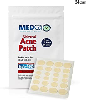 Acne Absorbing Covers - Hydrocolloid Acne Care Bandages (24 Count) Three Universal Patch Sizes, Acne Blemish Treatment for Face & Skin Spot Pore Patch that Conceals, Reduce Pimples and Blackheads