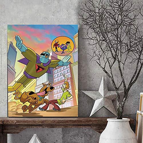Elliot Dorothy Póster de dibujos animados de Scooby Doo, diseño de cómics, anime al aire libre, 60,96 x 91,44 cm, impresión en lienzo, sin marco/enmarcado