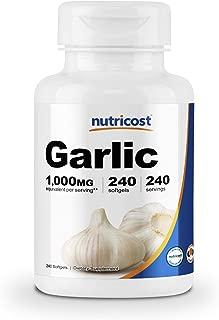 Nutricost Garlic 1000mg, 240 Softgels - Premium, High Potency, Gluten Free Garlic Supplement