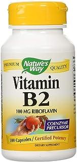 Nature's Way Vitamin B-2 - 100 mg - 100 Capsules (Pack of 8)