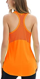 Women's Sleeveless Yoga Shirts Workout Tank Tops Actives Breathable Mesh Backless Tank Yoga Tops