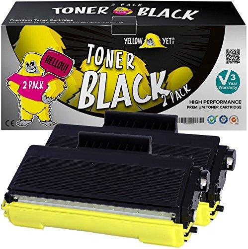 Yellow Yeti TN3280 (8000 pagine) 2 Toner compatibili per Brother DCP-8070D DCP-8085DN HL-5340D HL-5340DL HL-5350DN HL-5370DW HL-5380DN MFC-8370DN MFC-8380DN MFC-8880DN MFC-8890DW