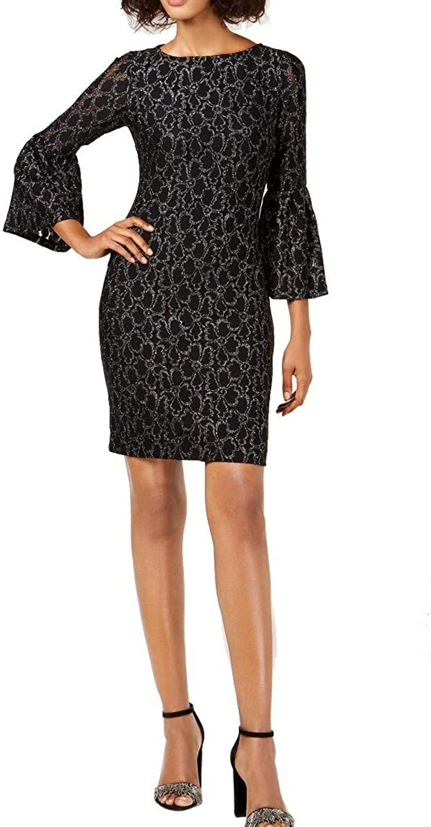 AMERICAN LIVING Women's Floral Lace Bell-sleeve Sheath Dress