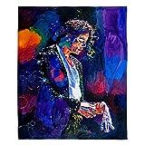 Dia Noche Fleece Blankets Soft Fuzzy 4 Sizes! DiaNoche - The Final Performance Michael Jackson - Toddler 40' x 30'