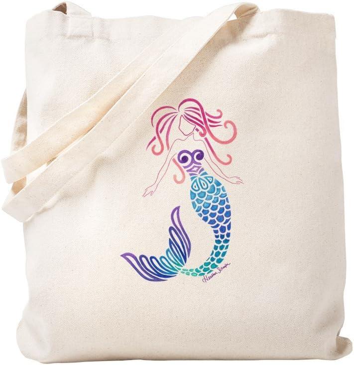 CafePress Tribal Mermaid Tote Bag Natural Canvas Tote Bag, Reusable Shopping Bag
