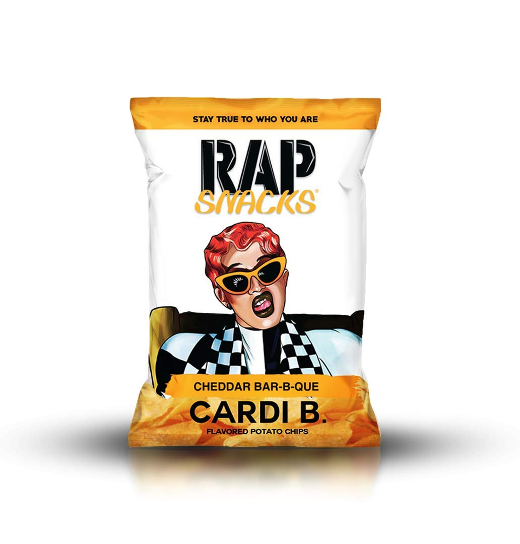 Rap Snacks Potato Chips 2.5 oz Bags (Cardi B Cheddar Bar-B-Que, 1 Pack)