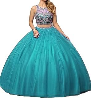 Women's Quinceanera Dresses 2019 Prom Ball Gown Sweet 16 Dress 2 Piece D225