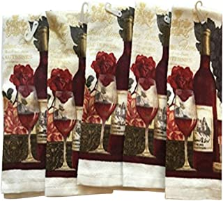 Wine Lovers Themed Kitchen Towels Towel Pack of 5