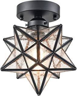 star shaped flush mount ceiling light