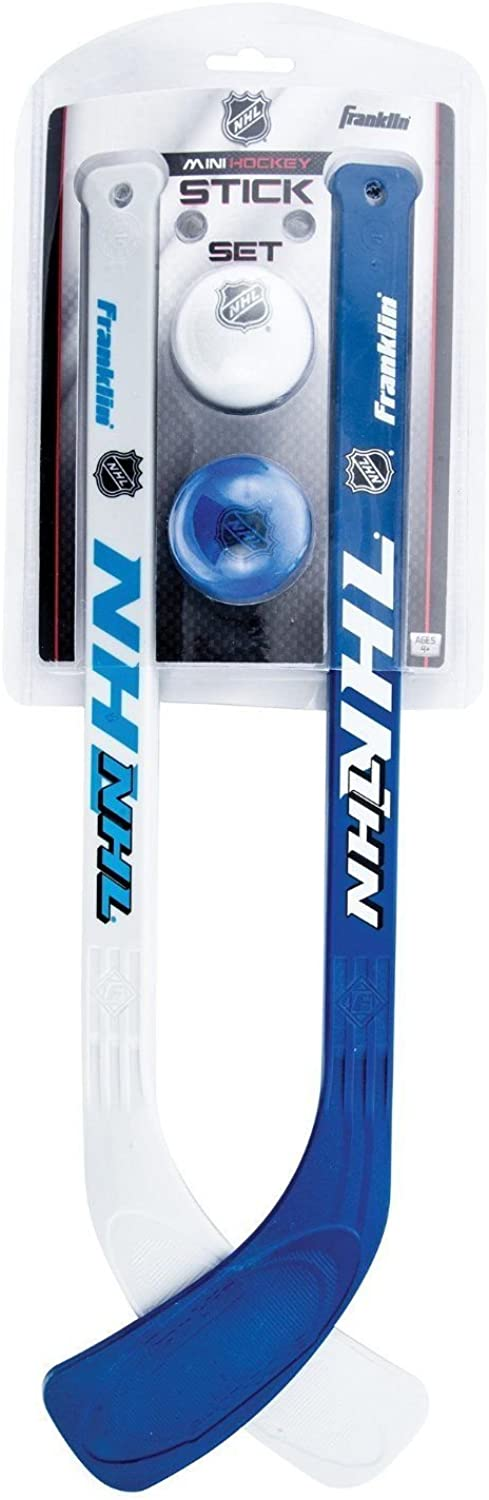 Franklin Sports Indoor Outdoor Durable Mini Hockey Stick And Ball Set For Kids