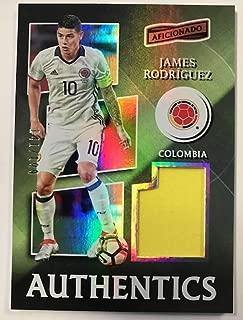 2016-17 Panini Aficionado Authentics Soccer #23 James Rodriguez Jersey/Relic SER/199 Colombia Official Futbol Memorabilia Card