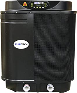 Puri Tech Quiet Heat 112,000BTU Pool Heat Pump with Optimizer up to 28,000 Gallons with Savings Optimizer and QZ Quiet Technology for Quiet Operation Simple and Easy