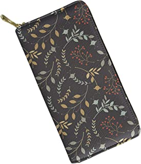 Mumeson Dog Pattern Women Long Wallet PU Leather Floral Clutch Purse Card Holder