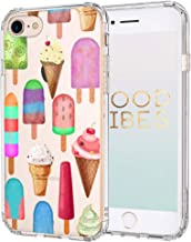 MOSNOVO iPhone 8 Case, iPhone 7 Clear Case, Ice Cream Pattern Printed Clear Design Transparent Plastic Back Case with TPU Bumper Protective Case Cover for iPhone 7/iPhone 8