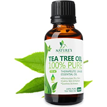 Tea Tree Oil 100% Pure, Extra Strength Essential Oils 30ml - Natural Undiluted Melaluca Alternifolia - Made in USA - Aromatherapy Grade For Face, Skin, Nails, Acne, Piercings & Bug Bites - 1 oz