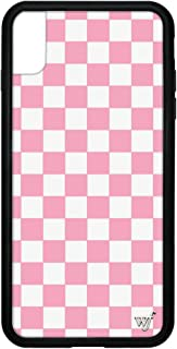 Wildflower Limited Edition iPhone Case for iPhone Xs Max (Pink Checkers)