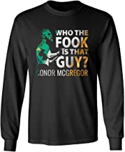 RIVEBELLA Saint Patrick DayWho The Fook is That Guy? Drunk Beer Cool Irish Flag Mens Long Sleeve T-Shirt