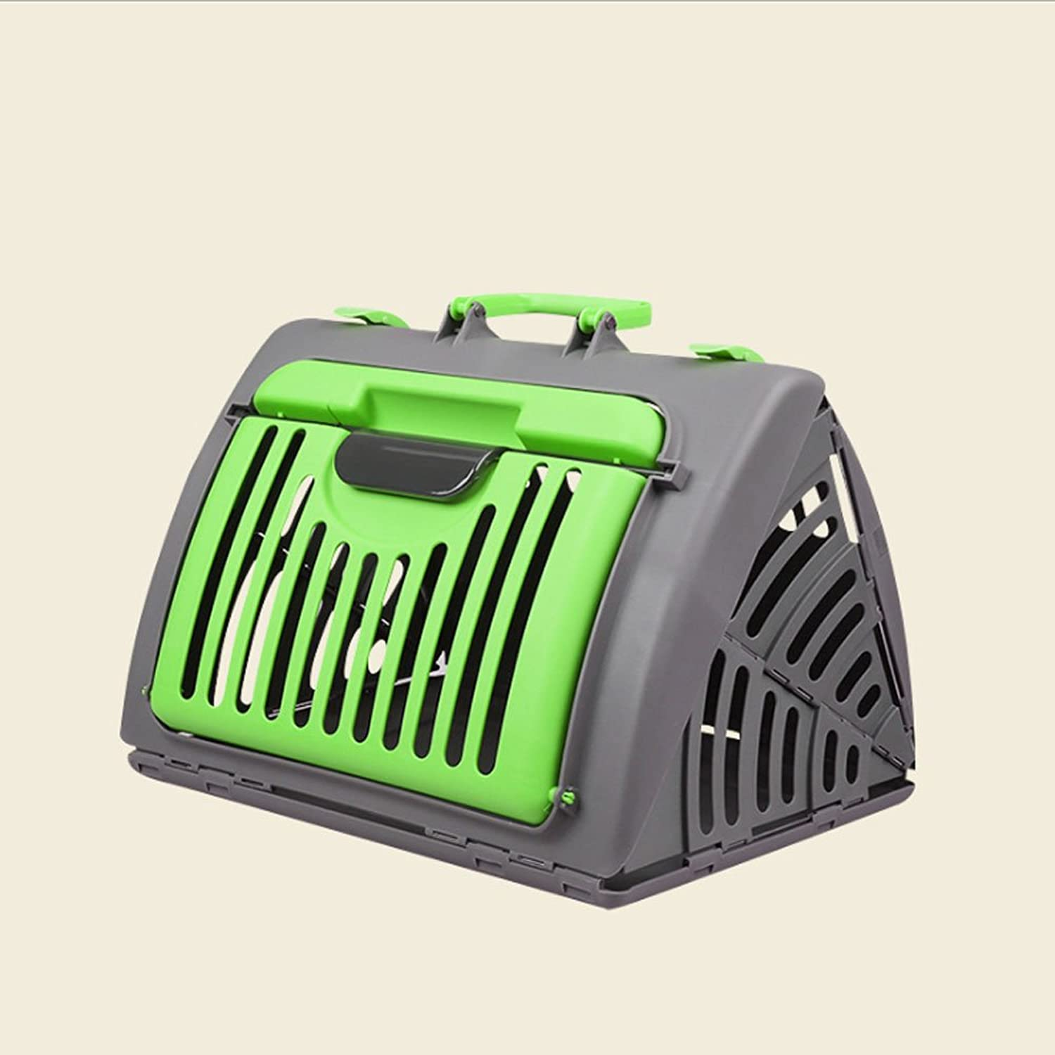 Foldable Portable Dog Cage Pet Cat Cage Travel Wrapped,Green