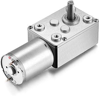 uxcell DC 24V 1RPM Worm Gear Motor 6mm Shaft High Torque Turbine Reducer