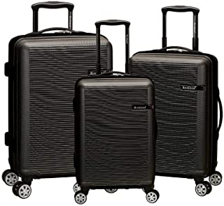 Rockland F240-GREY Skyline Collection 3-Piece Hardside Dual Spinner Luggage Set44; Grey