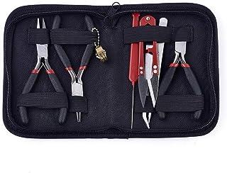 DIYARTS 8pcs Kits De Fabrication Bijoux Outils De Réparation De Bijoux avec Étui De Rangement à Glissière Noir pour La Fab...