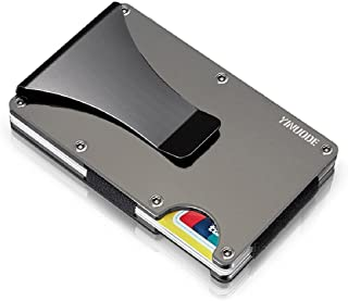 Carbon Fiber Credit Card Holder RFID Blocking Anti Scan Metal Wallet Money Cash Clip