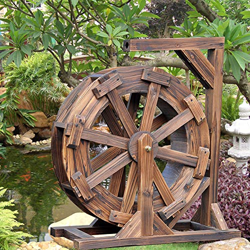 Wasserradbrunnen Patio Garten Wasserspiel Feng Shui Wheels Yard Dekorative Pumpe Im Freien,30cm