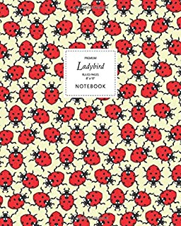 Ladybird Notebook - Ruled Pages - 8x10 - Premium: (Yellow Edition) Fun notebook 192 ruled/lined pages (8x10 inches / 20.3x...