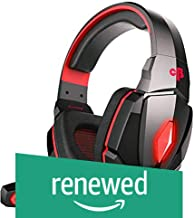 (Renewed) Cosmic Byte Over the Ear Headphone with Mic & LED - G4000 Edition (Red)