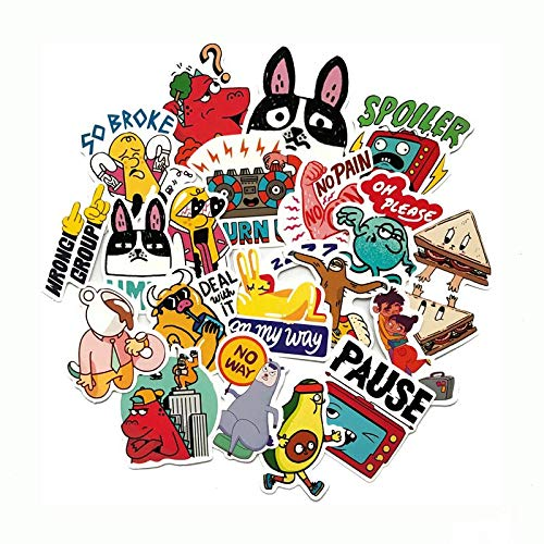 YZFCL Cartoon Children's Sticker Decal for Mobile Phone Car Laptop Bike Laptop Backpack Case Waterproof Children's Toy Sticker 20PCS
