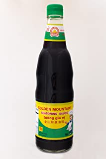 Golden Mountain - Thai Seasoning Soy Sauce - No preservatives and MSG - 20 Fl Oz. (600 Ml) - Green Cap (Pack of 1)