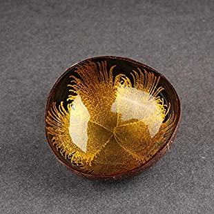 Customer reviews Horrenz 1pcs Natural Coconut Shell Spray Paint Bowl Dishes Mosaic Handmade Kitchen Paint Craft Creative Decoration Home Decor [yellow]:Warezcrack