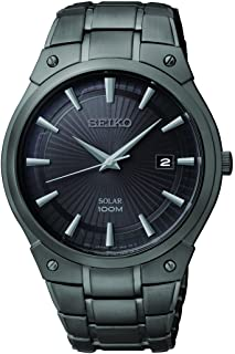 SEIKO Solar Black Ion Watch