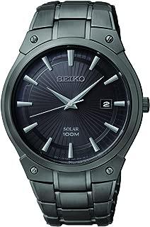 Seiko Men's SNE325 Dress Solar Black Stainless Steel Watch