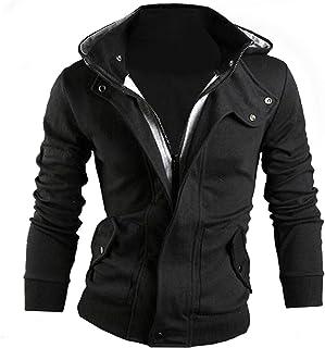 [ワン アンブ] パーカー メンズ 春 薄手 フード付き ライダース ジャケット