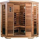 SaunaMed Lussuosa sauna a infrarossi FAR in cedro per 4-6persone, con tecnologia EMR, NeutralTM